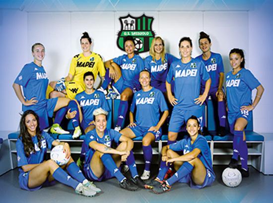 Foto di squadra del Sassuolo calcio femminile