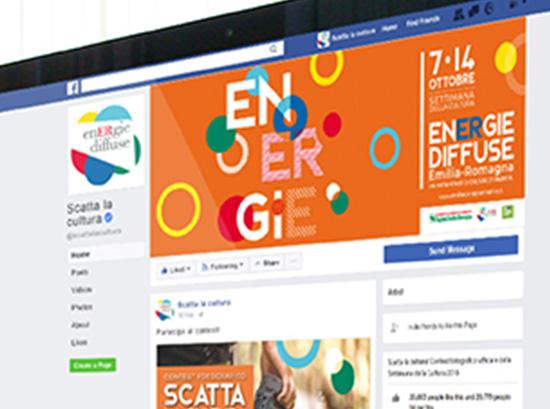 Screen shot della pagina facebook energie diffuse settimana della cultura